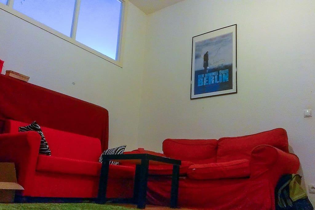 Wohnzimmer mit WLAN & TV