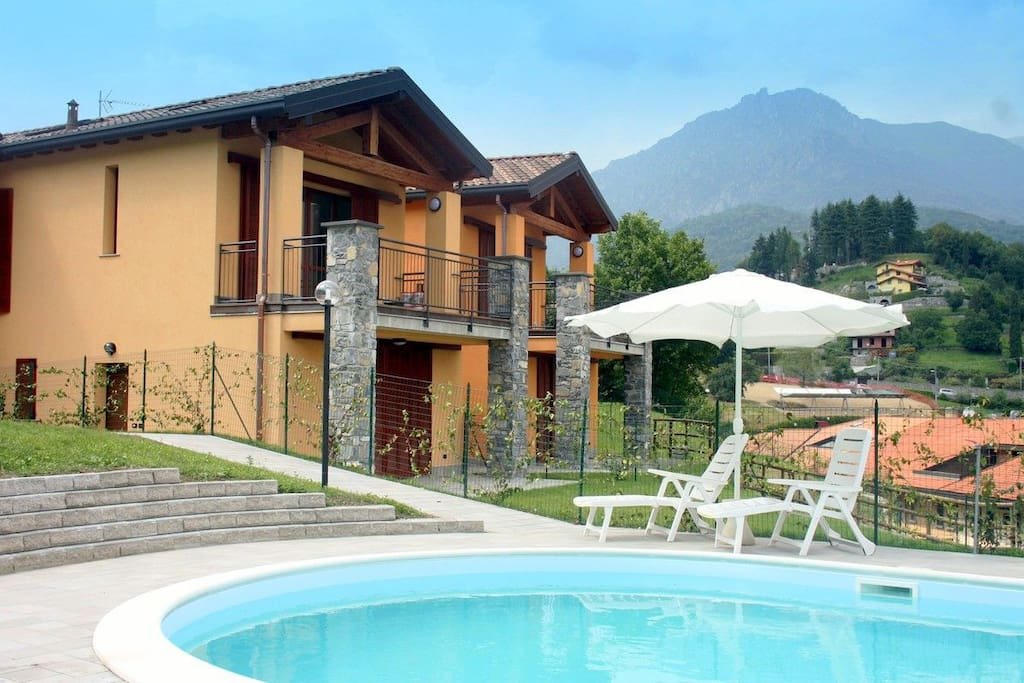 the residence from the pool, Balcone is first top flat