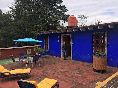 Linda cabaña entre México y Puebla.