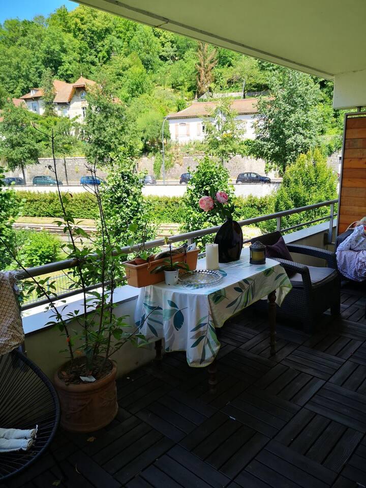 Appartement  balcon vue sur le doubs