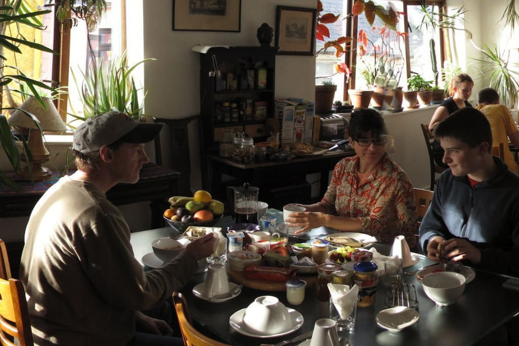Breakfast at The Bastion.