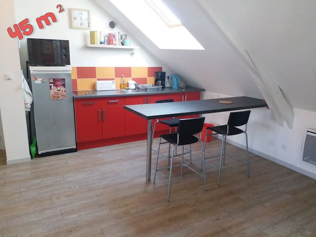 Appartement T2  45 m², RENNES SUD, Parking Gratuit