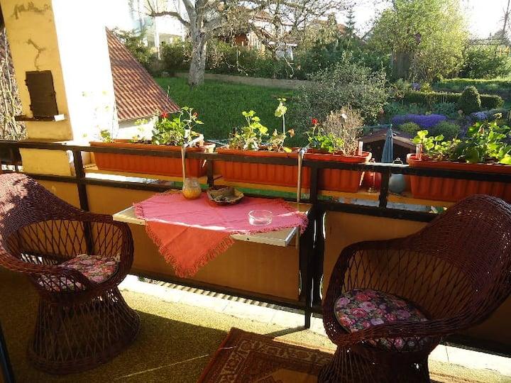 Ferienwohnungen Sick, (Uhldingen-Mühlhofen), Ferienwohnung Tina, 37 qm, 1 Schlafzimmer, Balkon, max. 2-3 Personen