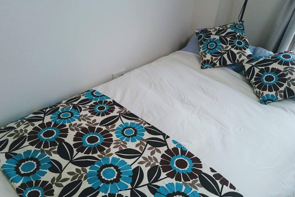 かけカバー・敷きパッド・枕カバー・枕パッド等、肌に触れる物は毎回取り換え。