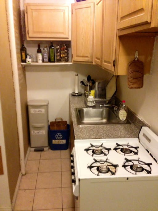 Feel free to use the kitchen during your stay