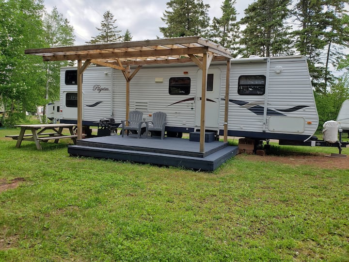 31' trailer at Sunset Campground in Cavendish, PEI
