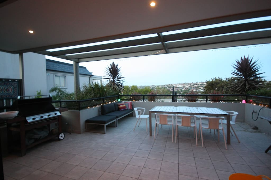 Expansive, private balcony facing north east, third floor with sweeping views over Bondi and Dover Heights. Gas barbeque, sunbed and eight seat outdoor table. Dine outside all year round!