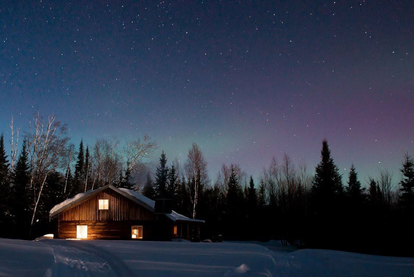 Ma'ayan Chalet on a stary night