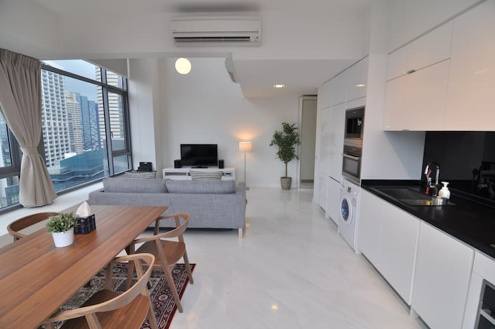 City Center SCENIC High-Floor LOFT, 1-4 Guests#AM - Singapur - Loft