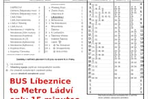 Bus from metro Ladvi to Líbeznice takes just 14 minutes .