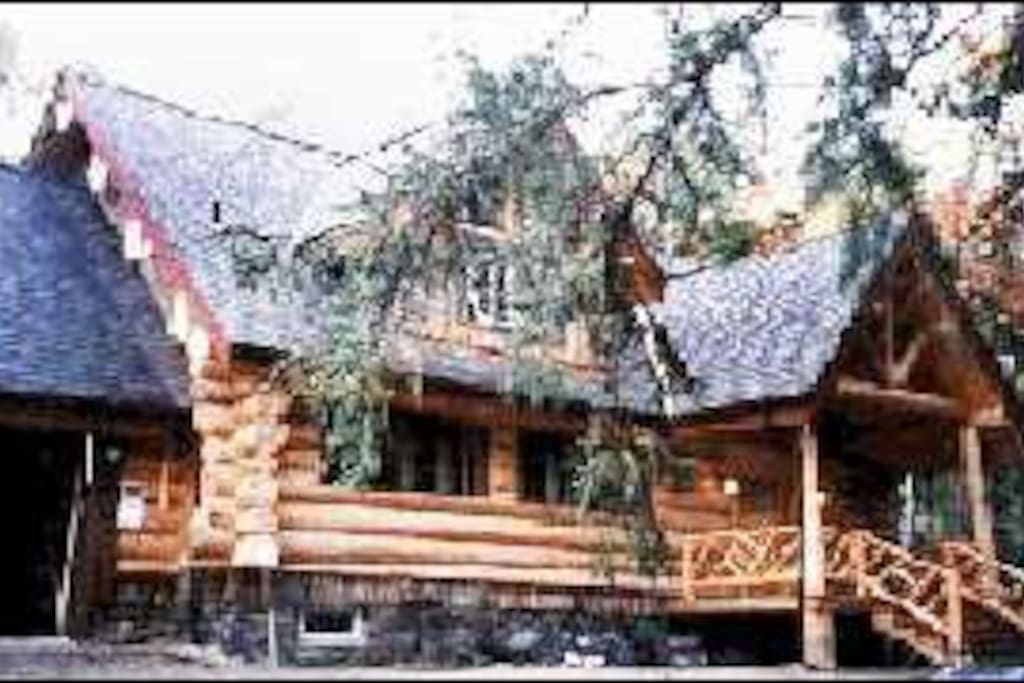 Great Camp style log home