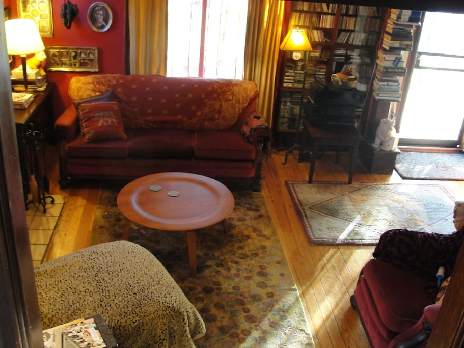 Living room on a sunny afternoon. Common area.