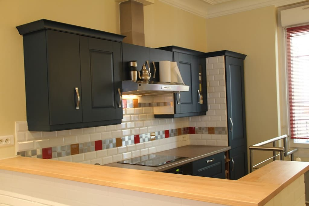 A all furnished kitchen
