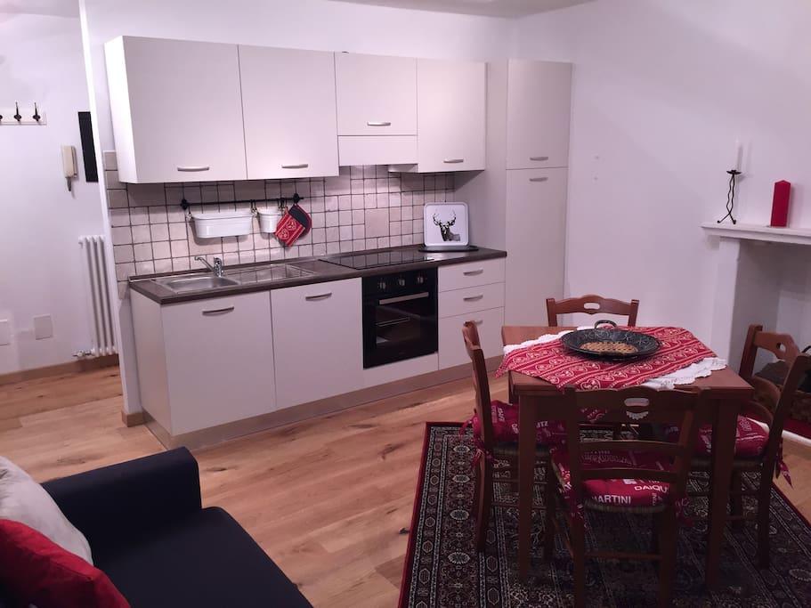 soggiorno cucina ad induzione