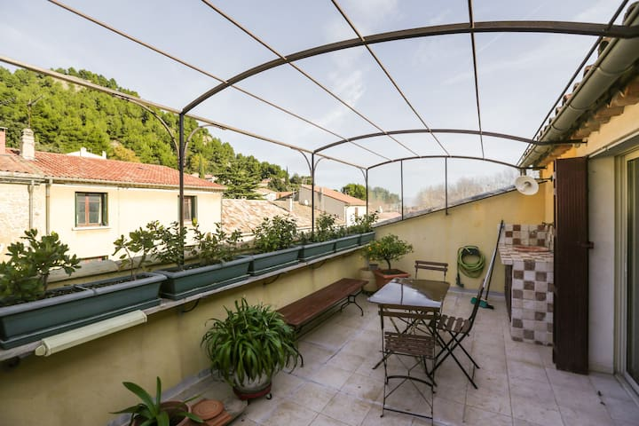 Maison de village Provence Alpilles - Lamanon - Casa