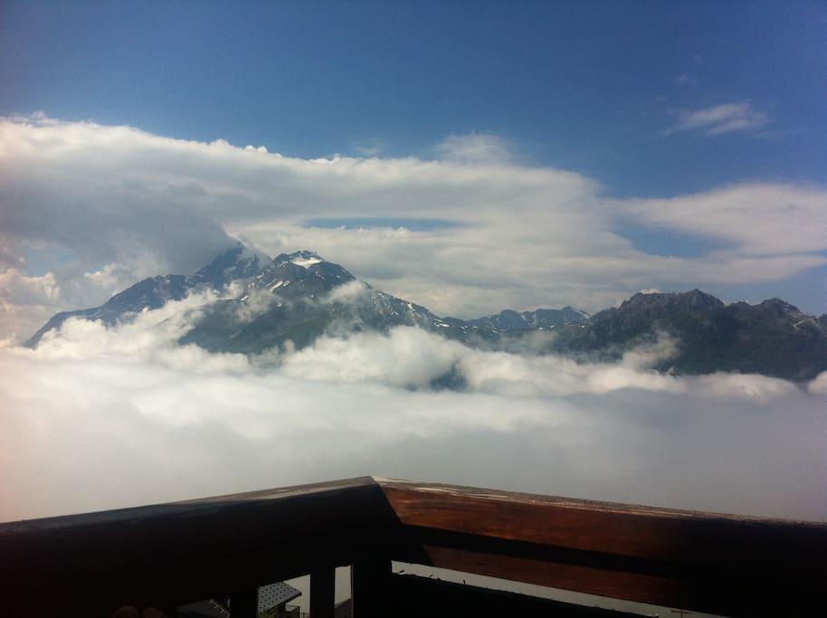 le Mont Pourri vu de notre balcon