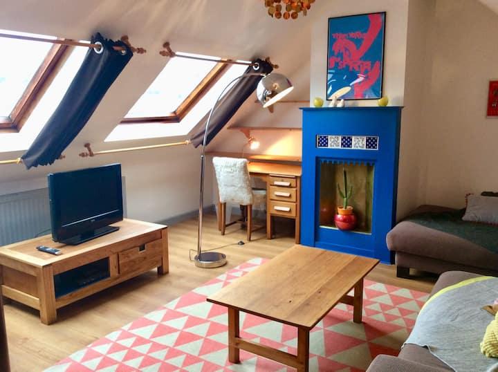 The Loft. A light, spacious and cosy maisonette.