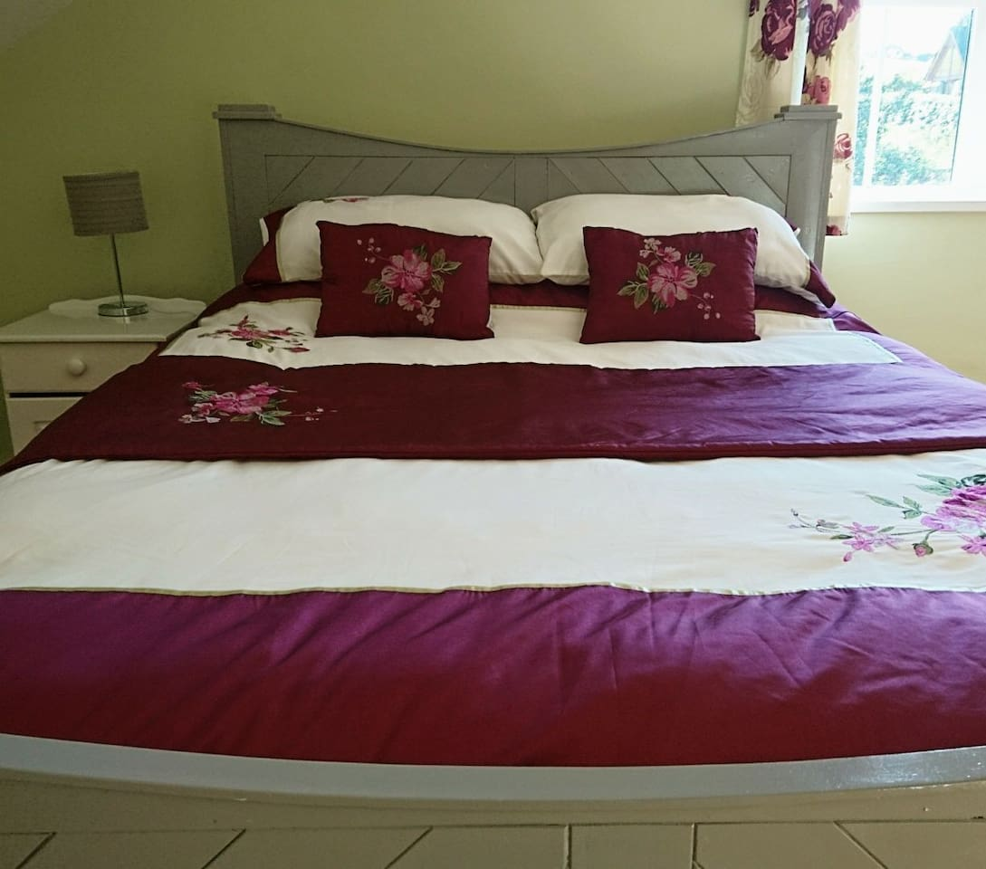 Comfy King Bed in main bedroom
