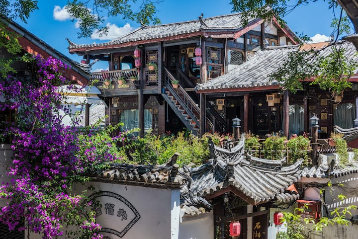 丽江古城中心·临主街·含早餐·惬意双人间·可观景可洗衣·免费私人订制行程