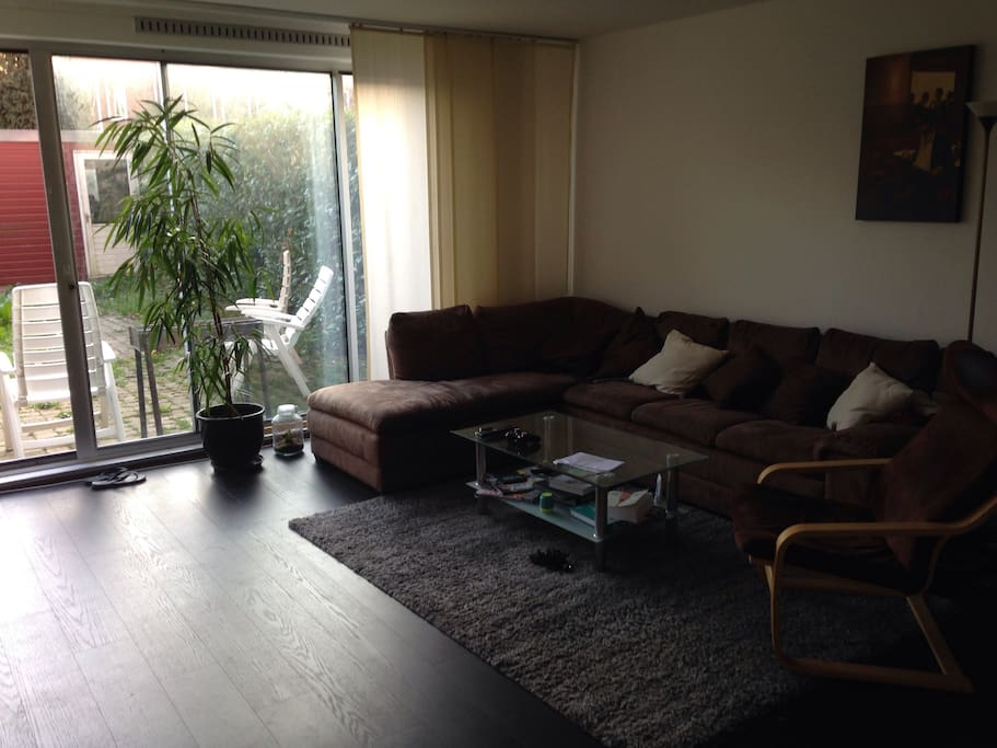 Shared living room and garden