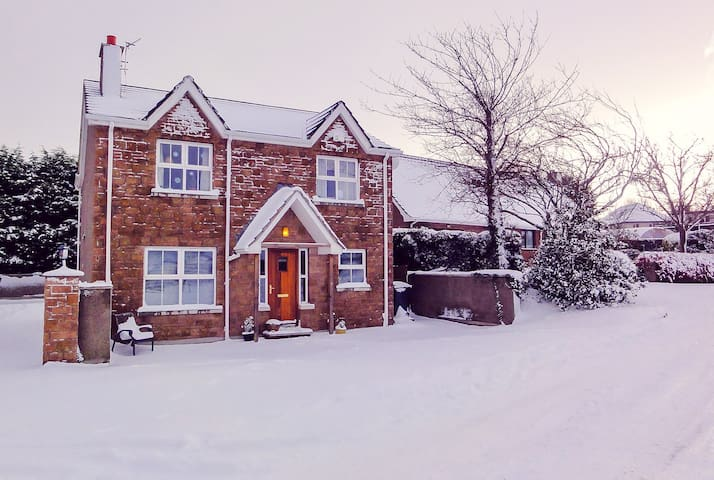On the rare occasion of snow! However please scroll over to see update without snow! Very near La Mon House Hotel,suitable for weddings.  Northern Ireland Tourist Board Approved. NITB certificate received. This is a requirement in Northern Ireland.