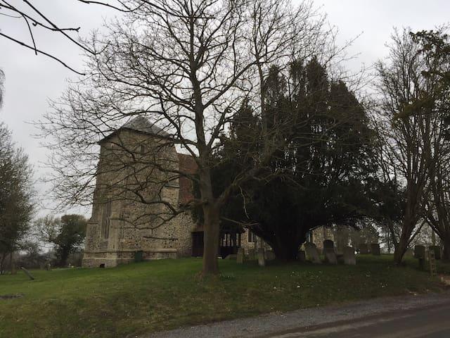 View across to St. Nicholas' Church