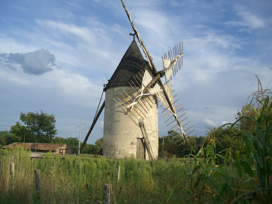 The house has this picture postcard windmill 200m away