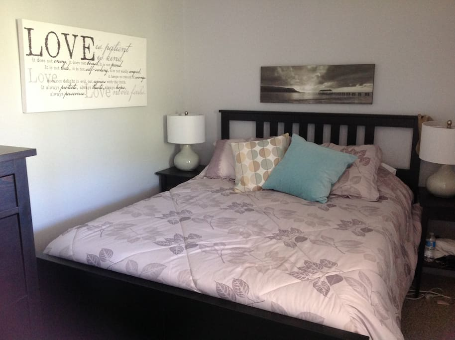 Master bedroom, ensuite, private access to private back deck