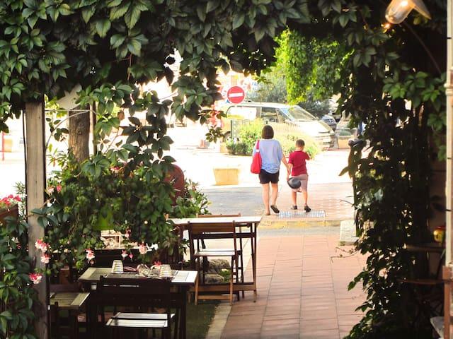 Walking through the provencal village of Carcès.