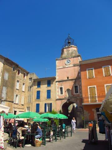 Medieval clock tower.