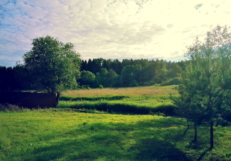 Вид  с веранды