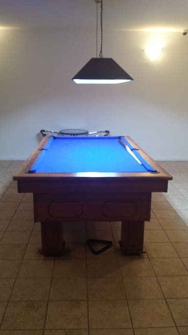 community room with pool table on level one free to access and use