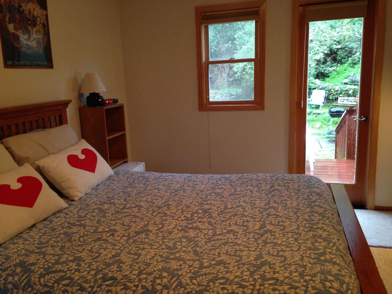 master bedroom -  door to backyard