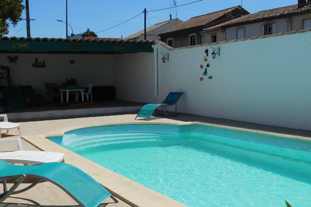 Pool area newly renovated for 2016 - just perfect for relaxing. Private pool in villa near town centre
