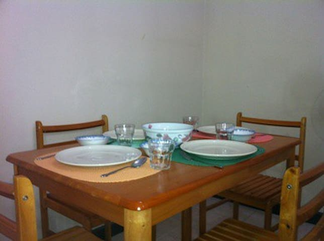 Dining can sit 4 people