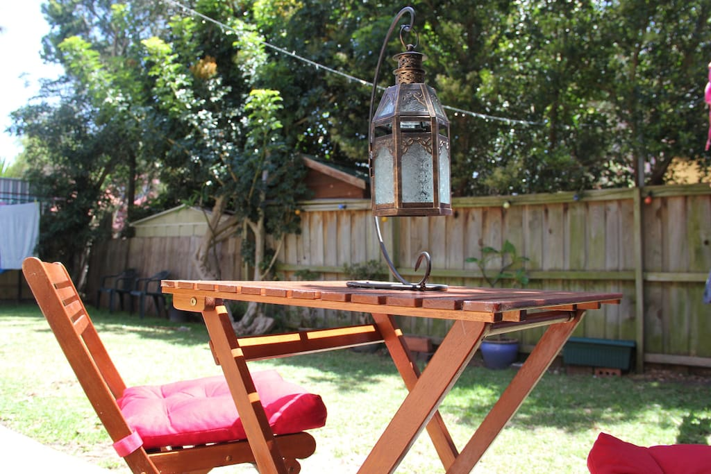 Direct access to a beautiful back garden