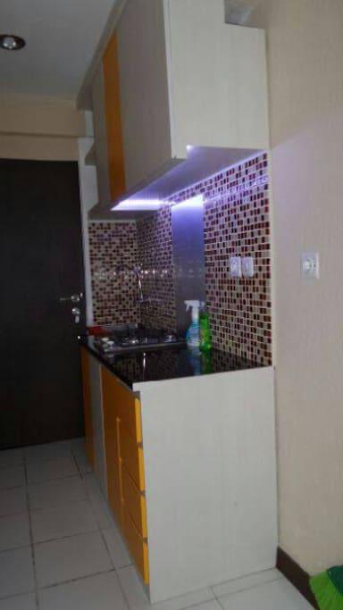 Mini kitchen to prepare your food.