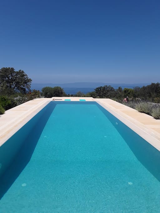 Stunning views of the Mediterranean from the infinity pool