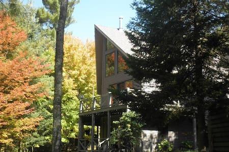 Adirondack Rainbow Lake Chalet - Vermontville - Casa