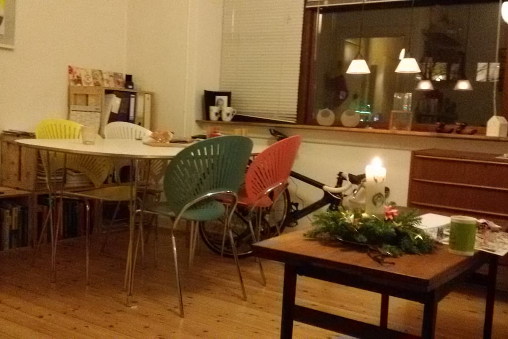 Dinning table in the livingroom