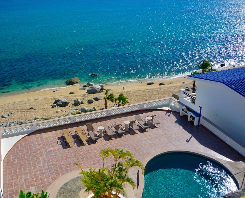 Beautiful view of the Sea of Cortez and pool
