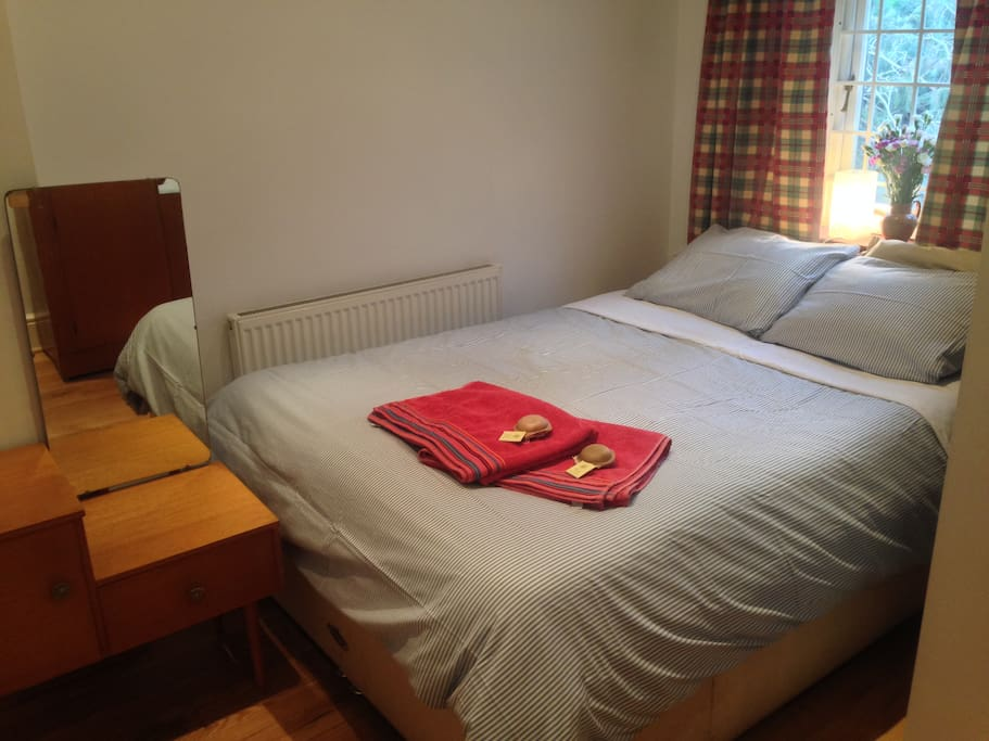 Very comfortable double bed in this cozy room
