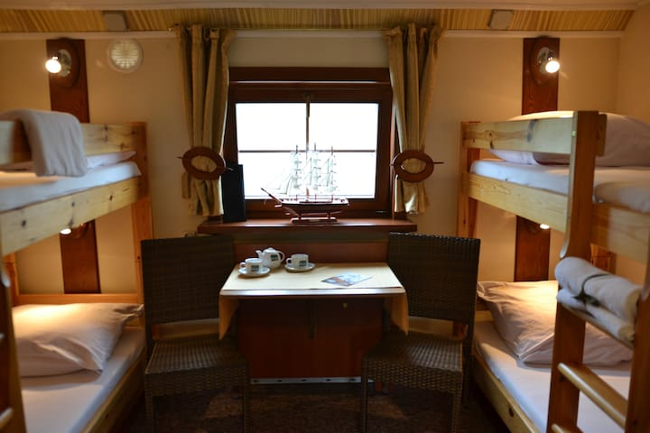 Cabin on Boat with Bathroom