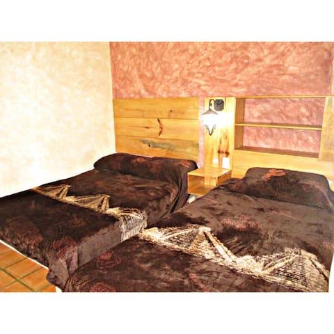 RECAMARA 3: -en planta baja - 1 cama matrimonial - 1 cama individual - 1 baño completo