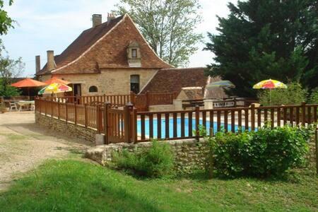 Maison de caractère du XVIe piscine - Auriac-du-Périgord