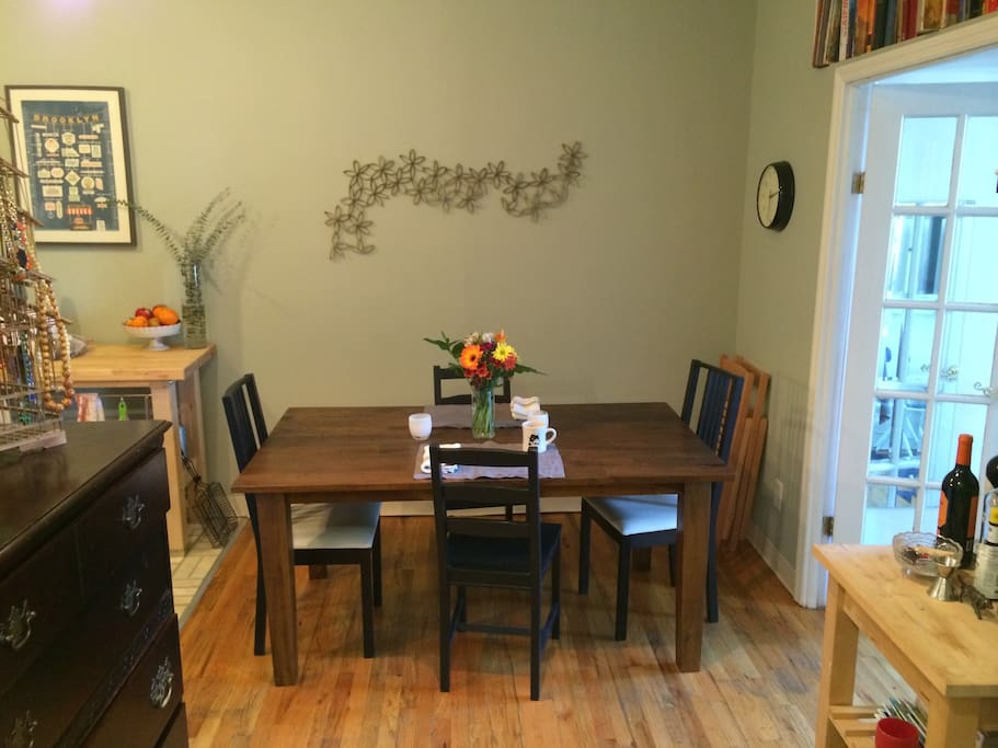 Dining table with chairs for 6