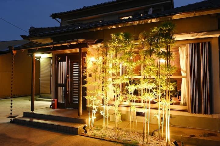 在古民宅式独户民宿体验日本生活 最多可容纳13人.从名古屋驾车10分钟左右即可抵达,
