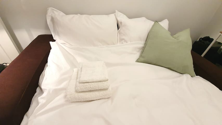 Guests are provided with three towels
