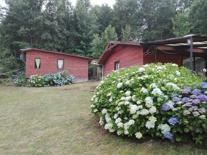 Cabaña de agrado entre Villarrica y Pucón