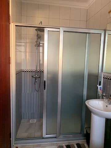 Shower that's also in the on sweet of the Master Bedroom